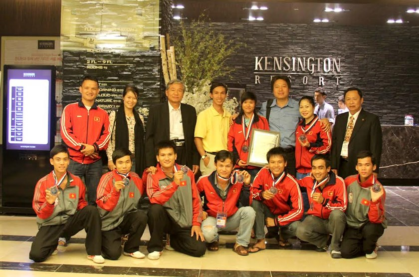 Vietnam team won a silver medal at the 2012 World Martial Arts Festival in South Korea. Photo: T.A