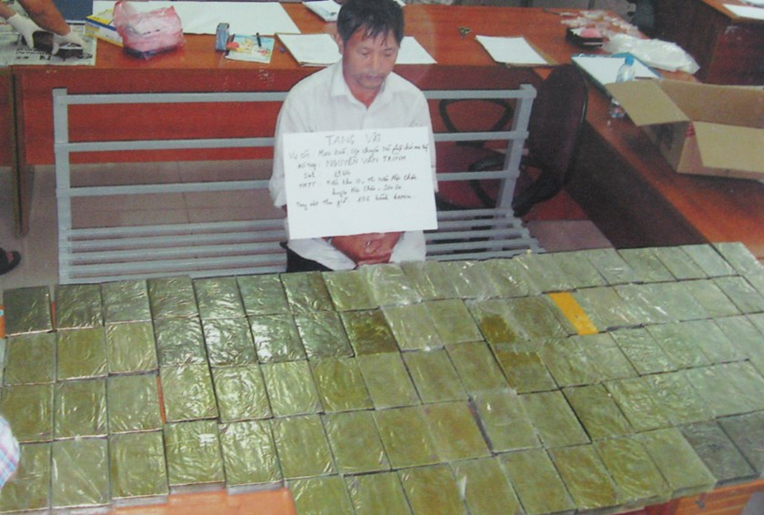 Nguyen Van Trinh, 49, was allegedly the mastermind of a major drung smuggling ring in northern provinces. Photo: Ha Nam