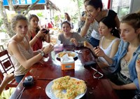 Tourists at a restaurant in the Mekong Delta's Can Tho City. Photo: Phu Sa Loc