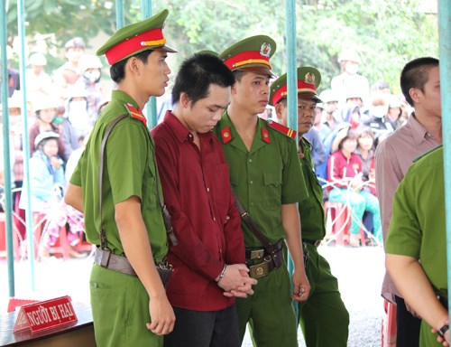 Nguyen Van Cuong being sentenced to death on September 6. Photo: Giang Phuong