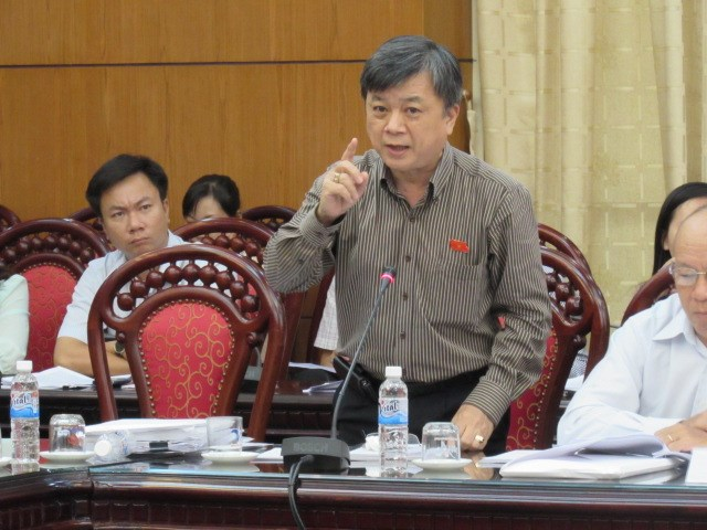 Vice Chairman Truong Trong Nghia of the Vietnam Bar Association, at a session on the illegal use of torture during police investigations on Thursday. Photo: Thai Son