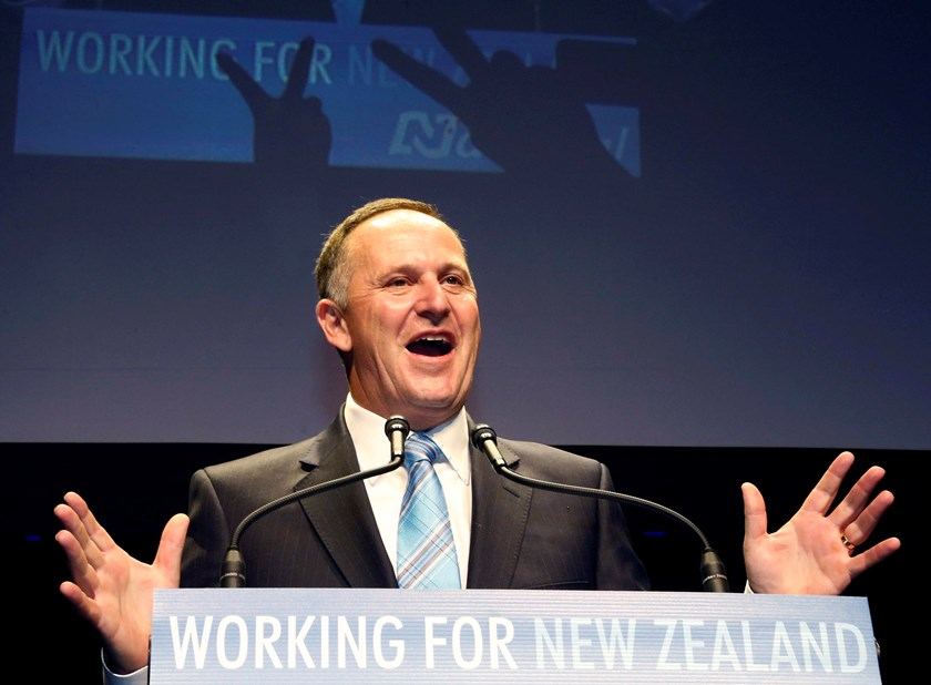 New Zealand's National Party leader John Key and Prime Minister-elect celebrates a landslide victory at the National election party during New Zealand's general election in Auckland, September 20. Photo credit: Reuters