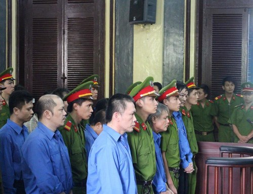 The defendants at trial on September 26. Photo: Ngoc Le