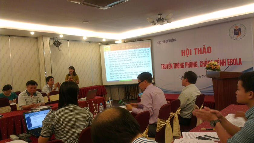 The Health Ministry in Ho Chi Minh City  continued to issue warnings about preventive measures against Ebola on Wednesday. Photo: Minh Hung