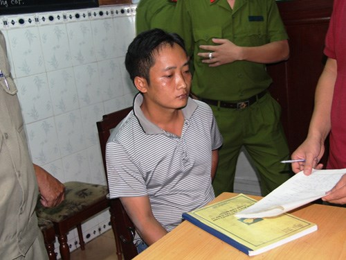Nguyen Van Dung, 32, faces murder charges for attacking the woman he loves with acid. Photo: Dam Huy