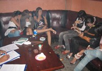 Sex workers at a karaoke parlor in Ho Chi Minh City. Photo: Vy Anh