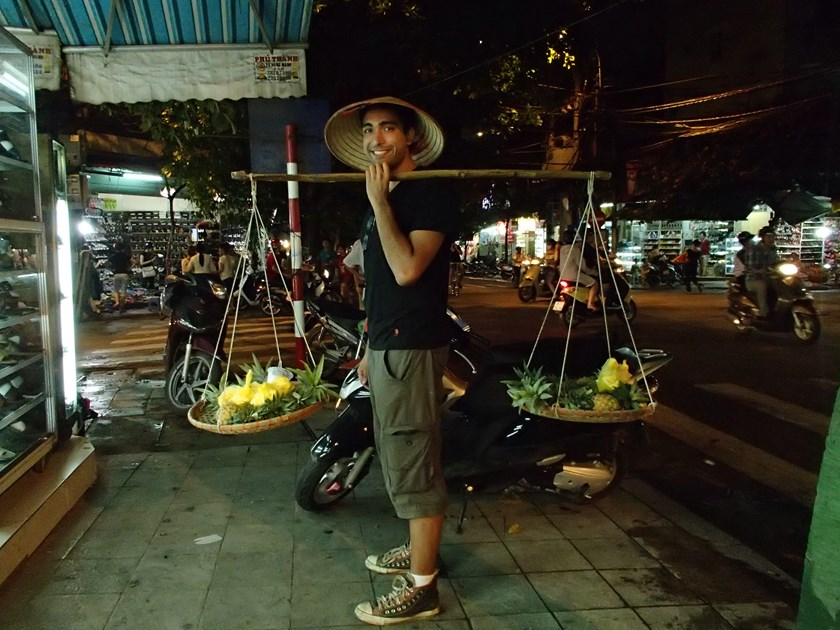 Pablo Rojas visits Hanoi on his year-long journey to 18 countries. Photo credit: Pablo Rojas