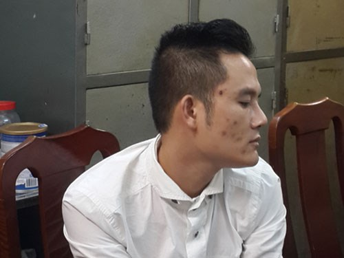 Nguyen Van Hoang, 33, faces charges of procuring prostitutes. Photo: Thai Son