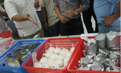 Drugs seized at Ho Chi Minh City's Tan Son Nhat Airport. Photo: Dam Huy