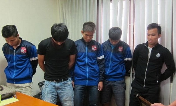 Dong Nai FC players accused of fixing the results of a match against Than Quang Ninh on July 20. Photo: Do Hai