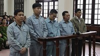 The defendants on trial in the northern port city of Hai Phong on November 13. Photo credit: Tien Phong