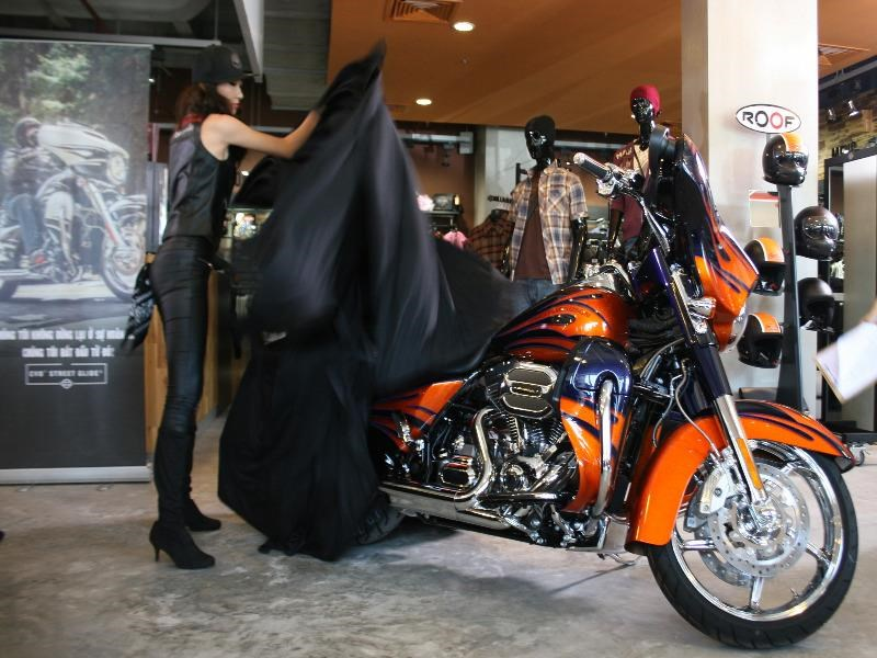 Harley Davidson launched three new 2015 models in Vietnam. The bikes start at US$77,040. Photo: Minh Hung