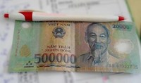 A now viral image of one of the allegedly doctored banknotes.