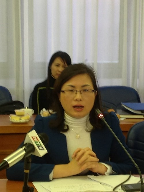 Nguyen Thi Hanh, deputy director of the Administrative – Criminal Law Department under the Justice Ministry, said the country may add a statue barring the offering of sexual favors to the country's existing statues on bribery. Photo: Thai Son