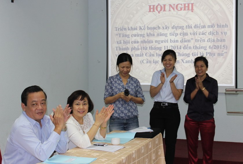 Ho Chi Minh City has launched the Sen Xanh (Green Lotus) peer support group to improve sex workers' access to social services. Photo: Minh Hung