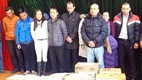 A group of suspects from the Hanoi Golden Investment Joint Stock Company were arrested on January 12. Photo: Thai Son
