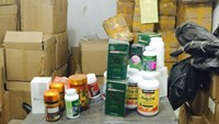 Fake dietary supplements found at a store in Bac Ninh Province on January 25.