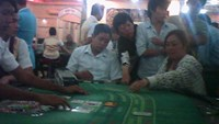 Vietnamese gamblers at a casino in Cambodia near the border with Vietnam. Photo: Tien Trinh