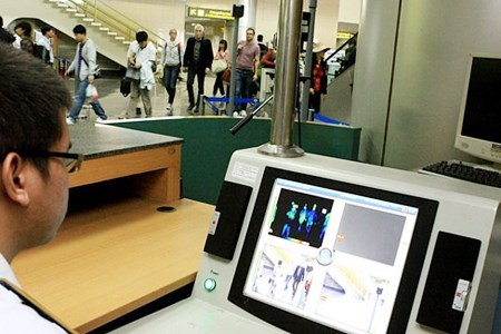 Hanoi's Noi Bai International Airport launched temperature screening following an outbreak of H7N9 in China in 2013. File photo