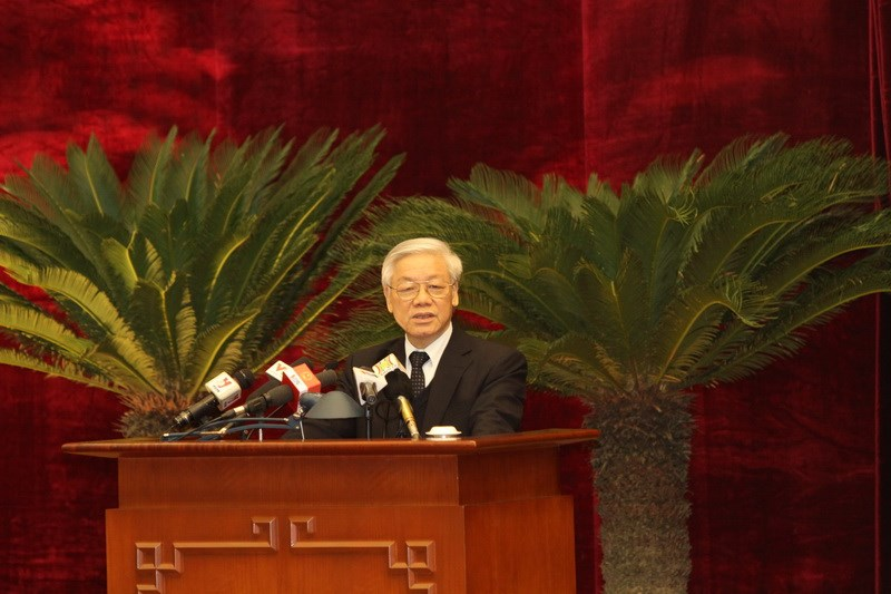 Vietnam Communist Party Chief Nguyen Phu Trong has instructed a crackdown on bribery for promotion. Photo: Truong Son