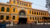 The Saigon Central Post Office after December's paint job. Photo: Le Cong Son