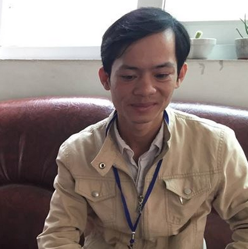 Pham Quang Thai, 25, has been accused of blackmailing traffic police.