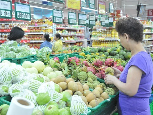 Fruits at a supermarket in Ho Chi Minh City. Photo: Diep Duc Minh