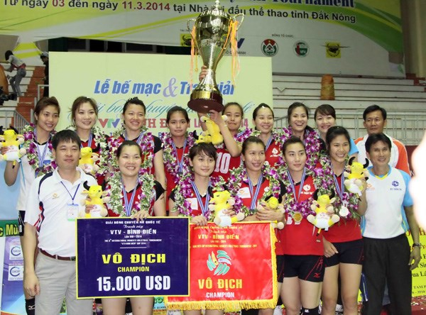 Lienvietpost Bank will defend their reigning champion at the VTV-Binh Dien International Women's Volleyball Championship. Photo: Minh Tu