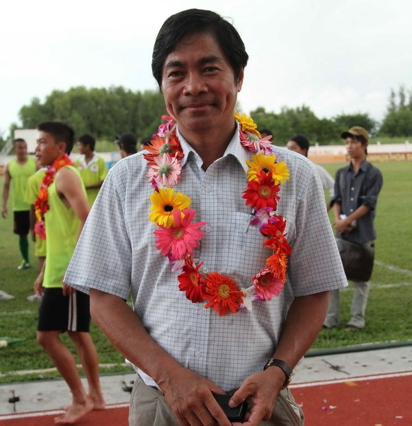 Vo Dong Lap, deputy director of Kien Giang Department of Culture, Sports and Tourism has been found embezzling footballers' transfer fee. Photo: Kha Hoa