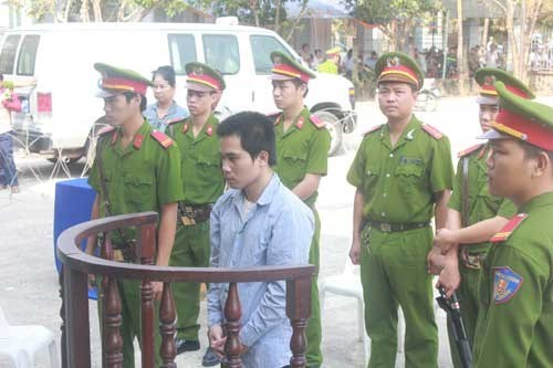 Doan Minh Son, 26, stands trial on March 14, 2015. Photo: Giang Phuong