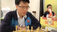 Le Quang Liem in a game at Chess World Cup 2015's qualifying round. Photo: Bach Duong
