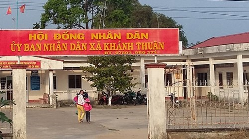 The office of Khanh Thuan Commune People's Committee in Ca Mau Province. Photo credit: Tuoi Tre