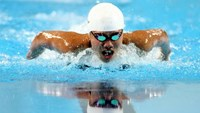Vietnamese young swimmer Nguyen Thi Anh Vien is being trained in the US. Photo: Kha Hoa