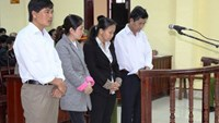 The defendants, including two doctors and two nurses of Huong Hoa District General Hospital, stand trial on March 27. Photo: Nguyen Phuc
