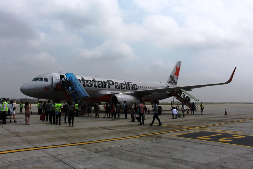 Jetstar launches its first flight from Hanoi to Bangkok on Sunday. Photo: Minh Hung