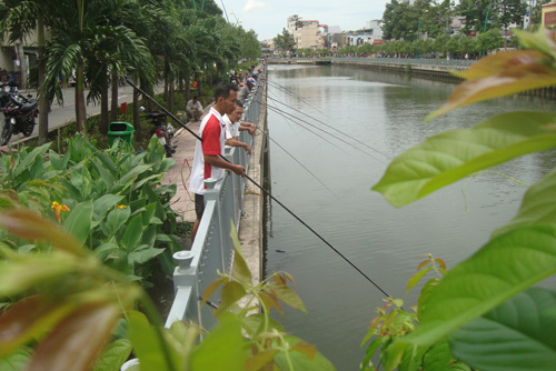 Illegal fishing destroying Ho Chi Minh City's newly-revived canals