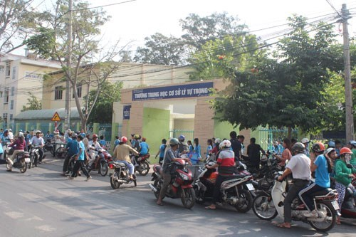 The Ly Tu Trong Junior High School in Tra Vinh Province. Photo: Vu Le