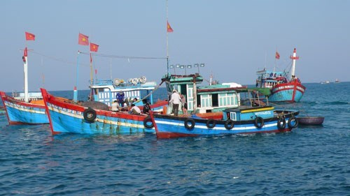 Boats of Quang Ngai fishermen in the East Sea. Photo: Van Minh