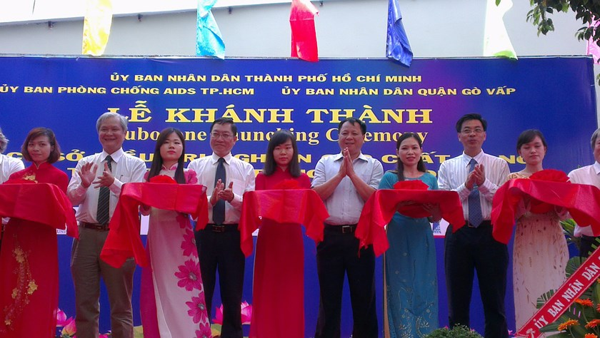 The launch ceremony of a Suboxone treatment facility for drug users in Ho Chi Minh City's Go Vap District. Photo: Minh Hung