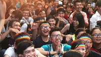 Rainbow in the rain: Vietnam celebrates global day against homophobia
