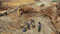 An illegal gold mine in Kon Tum Province. Photo: Pham Anh