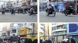 Street racers performing tricks in their races on a street in Ho Chi Minh City. Photo: Dam Huy
