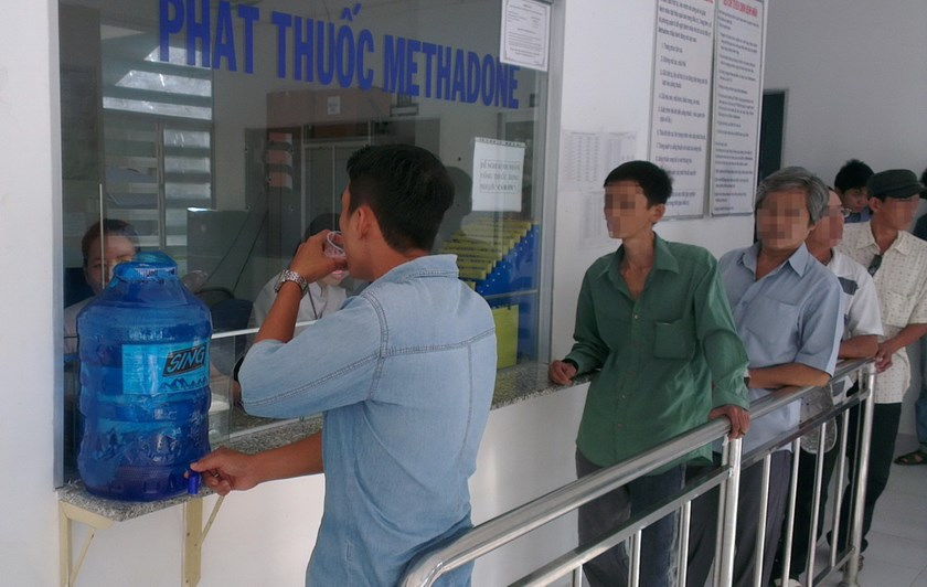 People take methadone at a center in Ho Chi Minh City. Photo: Minh Hung