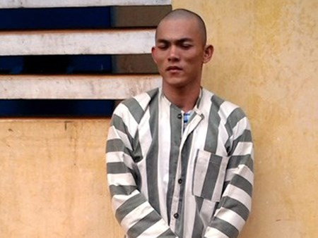 Dang Minh Hoang, 29, was arrested on June 24 in Gia Lai Province for allegedly stealing two iPhones from local police. Photo credit: PLO