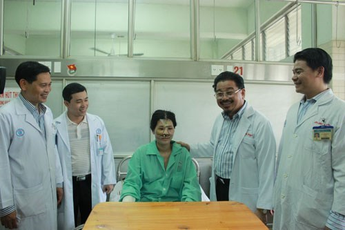 Nguyen Thi Chau Phu is being treated at Cho Ray Hospital in Ho Chi Minh City. Photo: Nguyen Mi