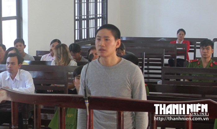 Nicolas Nguyen stands trial in Ninh Thuan Province on July 23. Photo: Thien Nhan