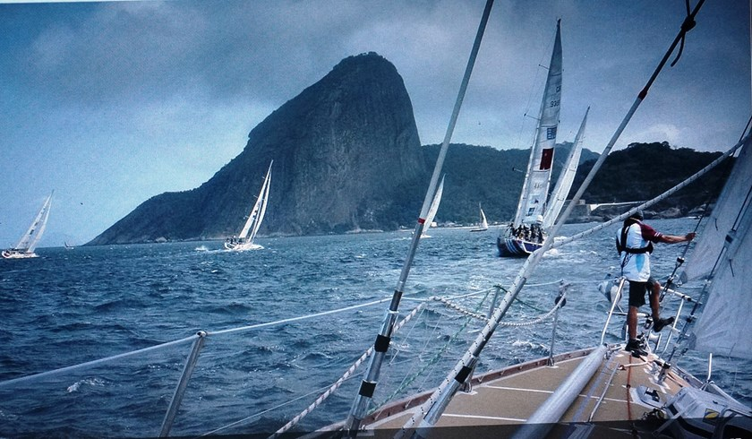 Yachts competing at a Clipper Round the World race. File photo