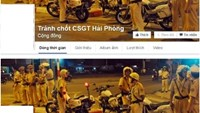 Screenshots of two Facebook pages that two men set up to offer tips about Hai Phong traffic police's checkpoints.