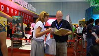 A corner at the 2014 International Travel  Expo in Ho Chi Minh City. Photo credit: ITE HCMC