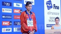 Anh Vien wins Vietnam's 3 historic medals at World Cup swimming